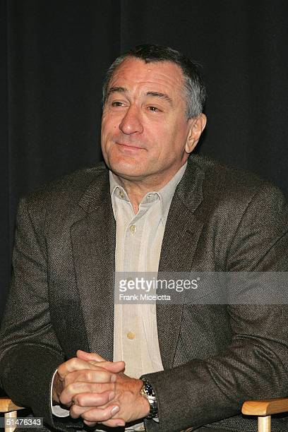 Actor Robert De Niro attends the press conference to announce the First Annual Tribeca Theater Festival at Tribeca Cinemas October 13 2004 in New...