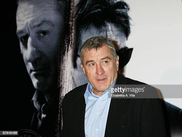S actor Robert De Niro attends the 'Righteous Kill' premiere at the Warner Cinema Moderno on September 16 2008 in Rome Italy