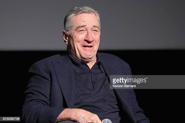 Actor Robert De Niro attends the 'Taxi Driver' 40th anniversary screening during the 2016 Tribeca Film Festival at Beacon Theatre on April 21 2016 in...