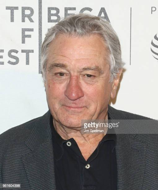 Actor Robert De Niro attends the Tribeca awards ceremony during the 2018 Tribeca Film Festival at BMCC Tribeca PAC on April 26 2018 in New York City