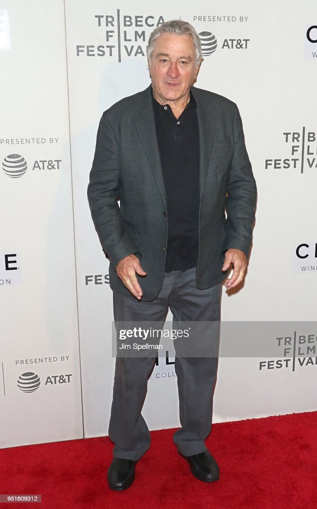 Actor Robert De Niro attends the Tribeca awards ceremony during the 2018 Tribeca Film Festival at BMCC Tribeca PAC on April 26, 2018 in New York City.