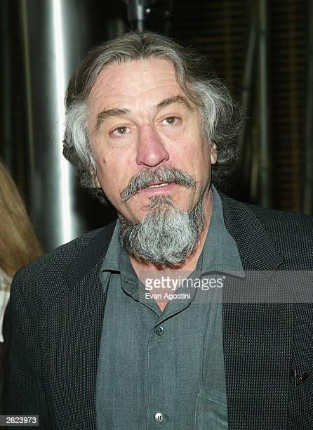 Actor Robert De Niro attends the Tribeca Film Festival 2003 opening day press conference at the Embassy Suites Hotel May 6 2003 in New York City...