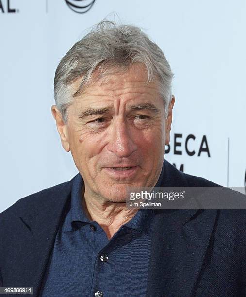 Actor Robert De Niro attends the world premiere of Live From New York during the 2015 Tribeca Film Festival at The Beacon Theatre on April 15 2015 in...