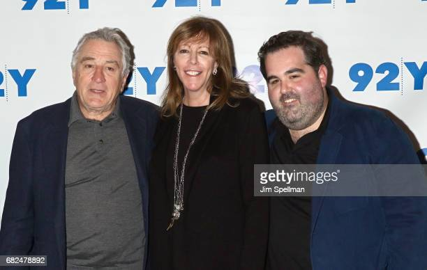 Actor Robert De Niro film producers Jane Rosenthal and Berry Welsh attend the The Wizard Of Lies presented by 92Y May 12 2017 in New York City