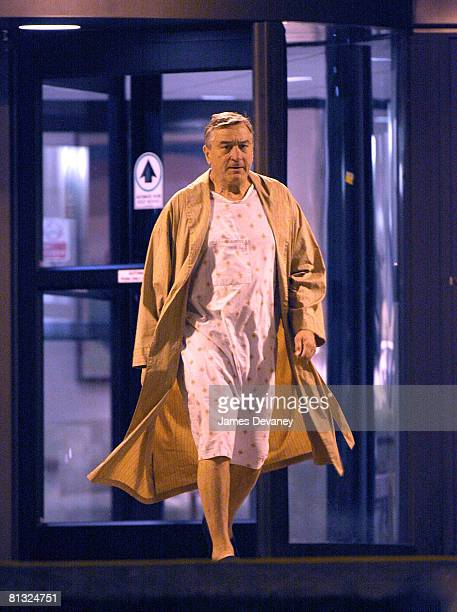 "Actor Robert De Niro filming on location for ""Everybody's Fine"" at Stamford Hospital on May 31, 2008 in Stamford, Connecticut."