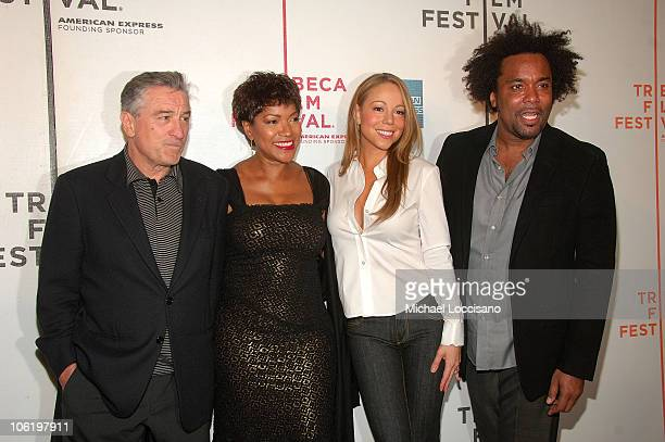 Actor Robert De Niro his wife Grace Hightower singer Mariah Carey and Lee Daniels attend the premiere of 'Tennessee' at the BMCCPPAC Theatre during...