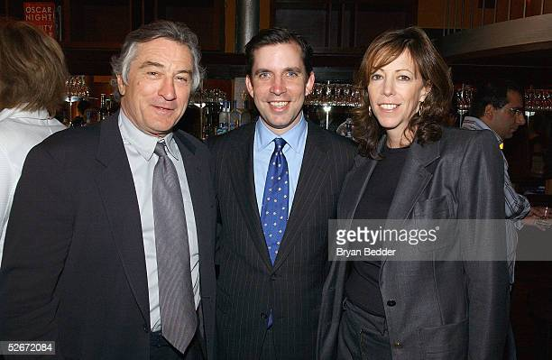 Actor Robert De Niro New York City Council Speaker Gifford Miller and Tribeca Film Festival CoFounder Jane Rosenthal attend the City Council Party at...