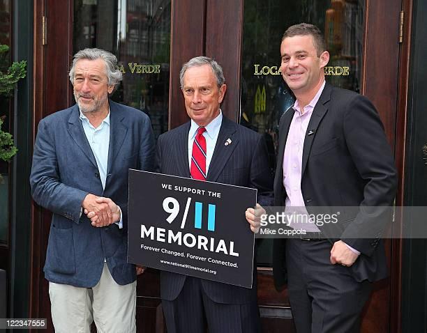 Actor Robert De Niro New York City Mayor Michael Bloomberg and 9/11 Memorial President Joe Daniels attend 9/11 Memorial Signs of Support program...
