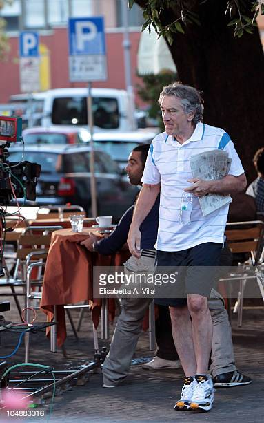 Actor Robert De Niro on set of the movie 'Manuale D'Amore 3' on October 6 2010 in Rome Italy