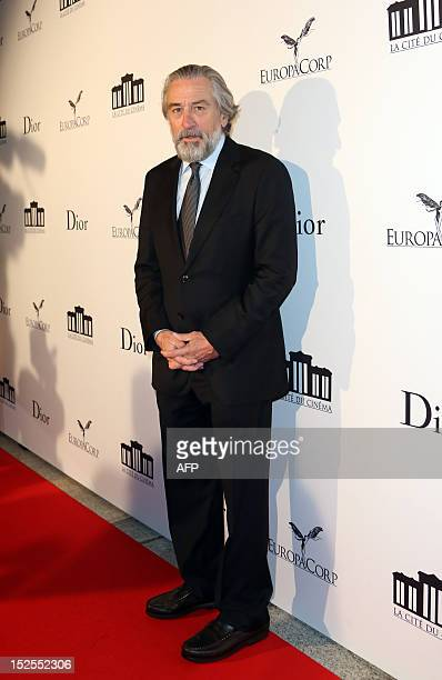 US actor Robert De Niro poses as he arrives to attend the inauguration ceremony of the Cite du cinema a film studios complex heralded as Hollywood à...