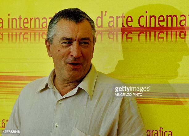 US actor Robert De Niro poses during a photocall at Venice Lido 10 September 2004 De Niro is the voice of Don Lino in the out of competition cartoon...