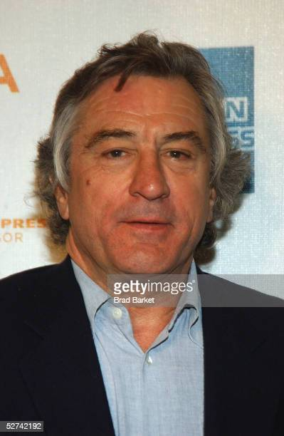 Actor Robert De Niro poses for a photo at the Tribeca Film Festival Awards Show press room at Tribeca Performing Arts Center on April 30 2005 in New...