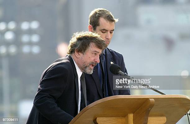 Actor Robert De Niro reads the names of some of the 2801 people who lost their lives during the terrorist attacks at the World Trade Center a year...