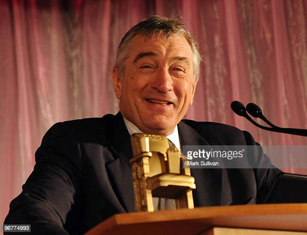 Actor Robert De Niro receives his lifetime achievement award at AARP's 9th Annual Movies For Grownups awards gala held on february 16 2010 in Beverly...