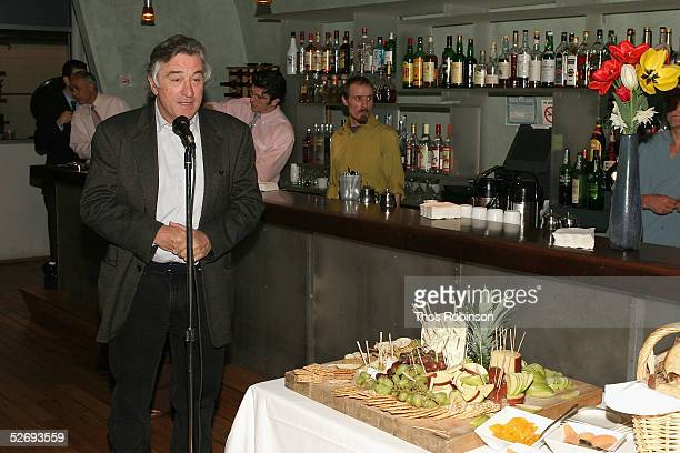 Actor Robert De Niro speaks at the director's brunch at the Tribeca Film Festival April 25 2005 in New York City