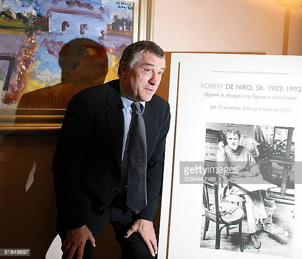 US actor Robert De Niro takes part at the inauguration of an exhibition showing paintings of his father Robert De Niro Senior in an art gallery...