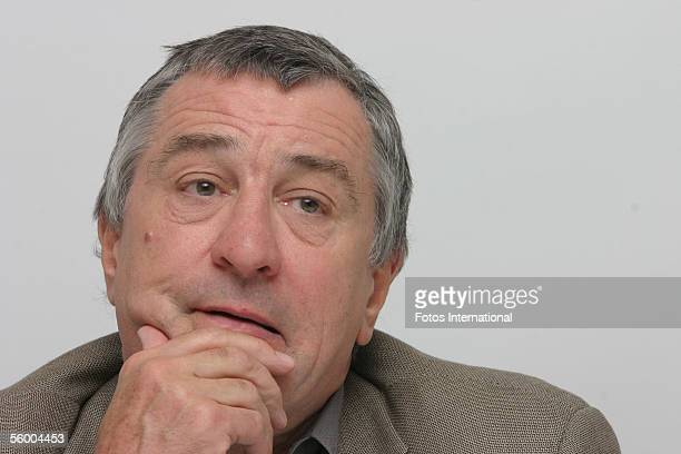 Actor Robert De Niro talks at the Four Season's Hotel on December 1 2004 in Beverly Hills California