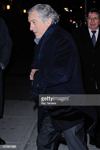 Actor Robert De Niro visits the 'Late Show With David Letterman' taping at the Ed Sullivan Theater on December 13 2010 in New York City