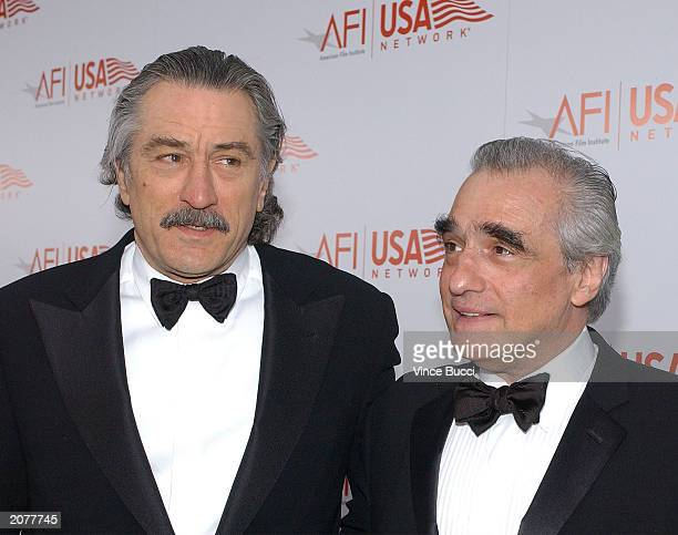 Actor Robert DeNiro and director Martin Scorsese attend the 31st AFI Life Achievement Award presented to DeNiro at the Kodak Theatre on June 12 2003...