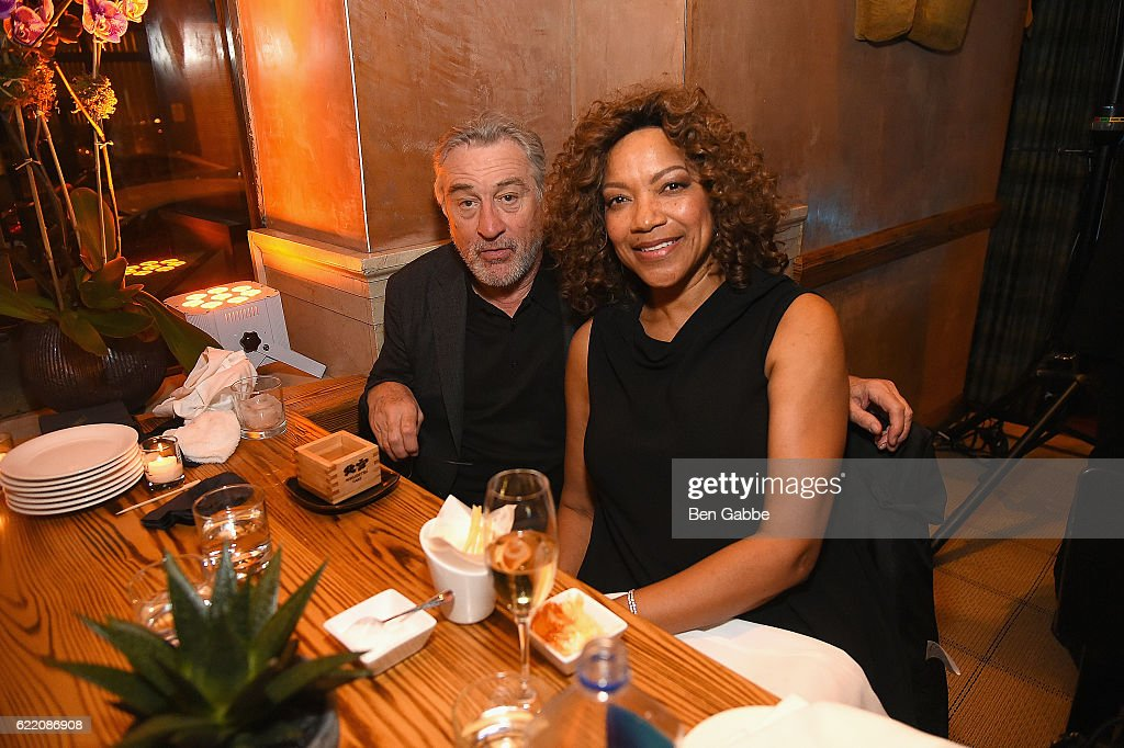 Actor Robert DeNiro and Grace Hightower DeNiro attend Nobu Hotel Miami Beach launch VIP cocktail at Nobu Next Door on November 7, 2016 in New York City.