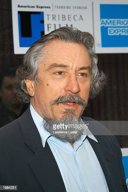 Actor Robert Deniro arrives at the Tribeca Film Festival screening of An Evening of Chinese Coffee and Conversation May 8 2003 in New York City