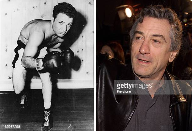 In this composite image a comparison has been made between Jake La Motta and Actor Robert DeNiro Oscar hype begins this week with the announcement of...