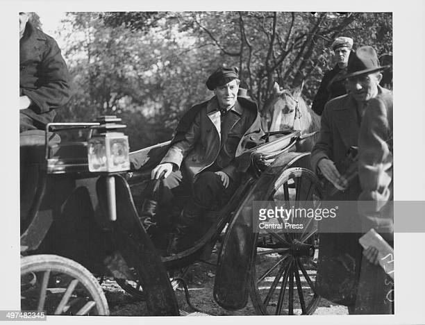 Actor Robert Donat filming a scene for the film 'Knight Without Armour' at Denham Studios Buckinghamshire October 20th 1936