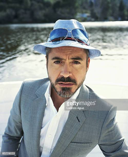Actor Robert Downey Jnr poses for a portrait shoot for Parade magazine London on March 2 2008