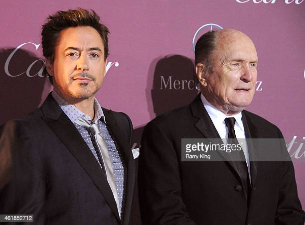 Actor Robert Downey Jr and actor Robert DuVall arrive at the 26th Annual Palm Springs International Film Festival Awards Gala Presented by Cartier at...
