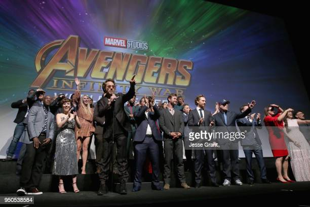 Actor Robert Downey Jr. And cast & crew of 'Avengers: Infinity War' attend the Los Angeles Global Premiere for Marvel Studios' Avengers: Infinity War...