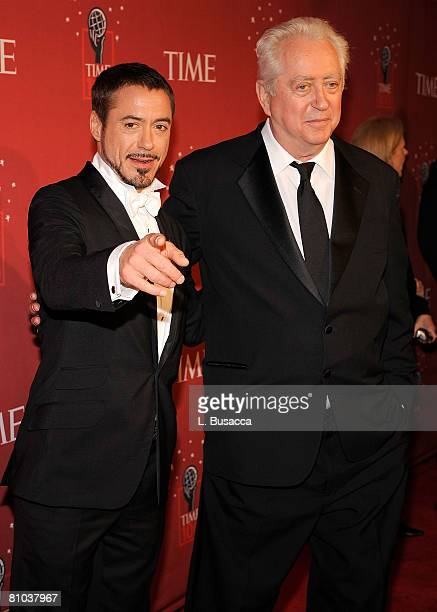 Actor Robert Downey Jr and director Robert Downey Sr attend Time's 100 Most Influential People in the World gala at Jazz at Lincoln Center on May 8...