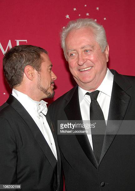 Actor Robert Downey Jr and father director Robert Downey Sr attend Time's 100 Most Influential People In The World Gala at Jazz at Lincoln Center in...