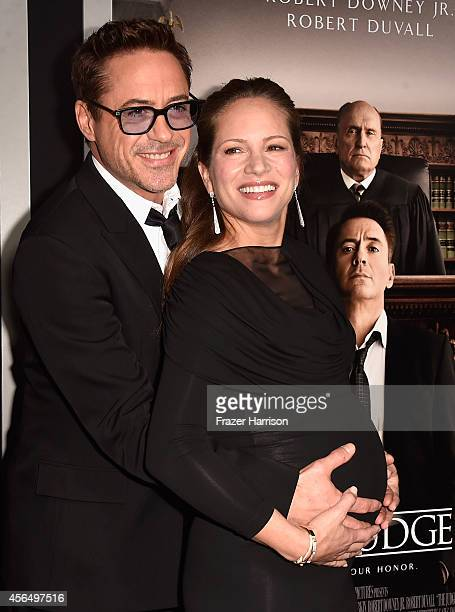Actor Robert Downey Jr. And his wife Producer Susan Downey arrive for the Warner Bros. Pictures and Village Roadshow Pictures' Premiere of 'the...