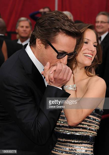 Actor Robert Downey Jr and producer Susan Downey arrive at the 82nd Annual Academy Awards held at the Kodak Theatre on March 7 2010 in Hollywood...