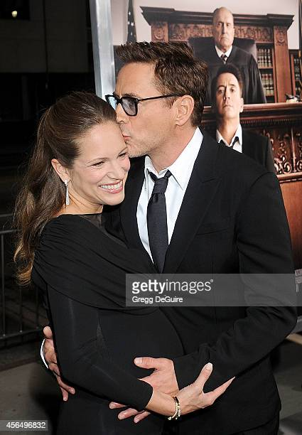 """Actor Robert Downey Jr. And producer Susan Downey arrive at the Los Angeles premiere of """"The Judge"""" at AMPAS Samuel Goldwyn Theater on October 1,..."""