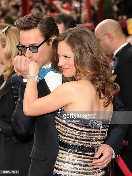 Actor Robert Downey Jr and producer Susan Downey arrives at the 82nd Annual Academy Awards at the Kodak Theatre on March 7 2010 in Hollywood...