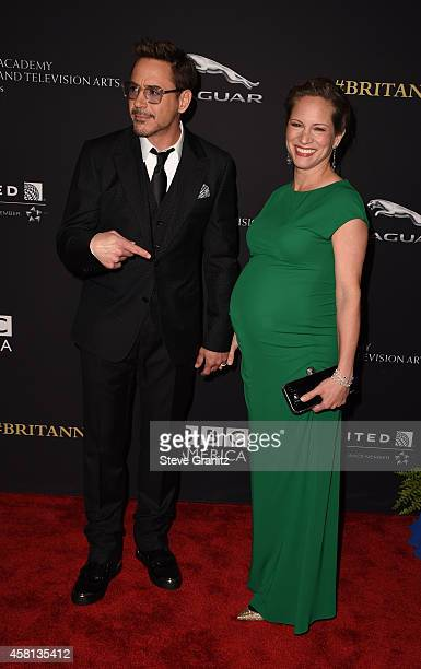 Actor Robert Downey Jr. And producer Susan Downey attend the 2014 BAFTA Los Angeles Jaguar Britannia Awards Presented By BBC America And United...