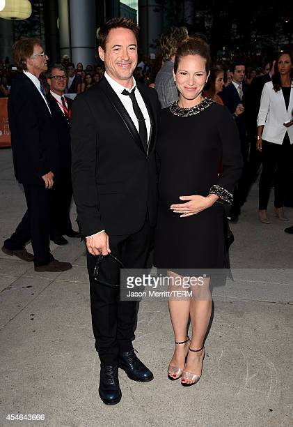 Actor Robert Downey Jr and producer Susan Downey attend The Judge gala premiere during the 2014 Toronto International Film Festival at Roy Thomson...