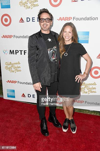 """Actor Robert Downey Jr. And producer Susan Downey attend the MPTF 95th anniversary celebration with """"Hollywood's Night Under The Stars"""" at MPTF..."""