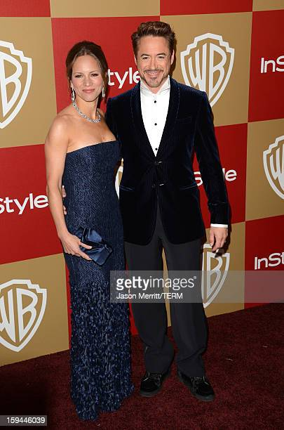 Actor Robert Downey Jr and producer Susan Downey attends the 14th Annual Warner Bros And InStyle Golden Globe Awards After Party held at the Oasis...