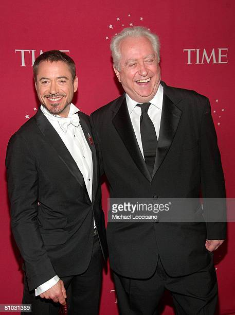 Actor Robert Downey Jr and Robert Downey Sr attend Time's 100 Most Influential People In The World Gala at Jazz at Lincoln Center in New York City on...