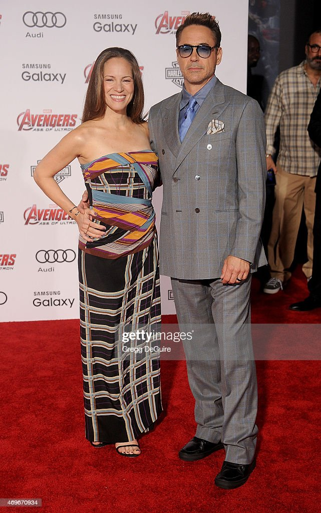Actor Robert Downey Jr. and Susan Downey arrive at the Los Angeles premiere of Marvel's 'Avengers: Age Of Ultron' at Dolby Theatre on April 13, 2015 in Hollywood, California.
