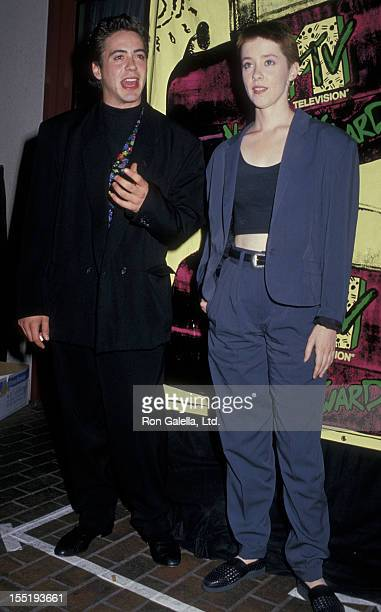 Actor Robert Downey Jr and Suzanne Vega attend Fifth Annual MTV Video Music Awards on September 7 1988 at the Universal Ampitheater in Universal City...