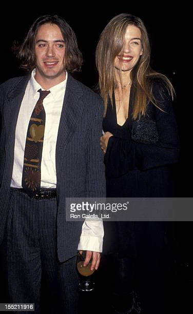Actor Robert Downey Jr and wife Deborah Falconer attend Fire and Ice Ball Benefit on December 7 1994 at 20th Century Fox Studios in Century City...