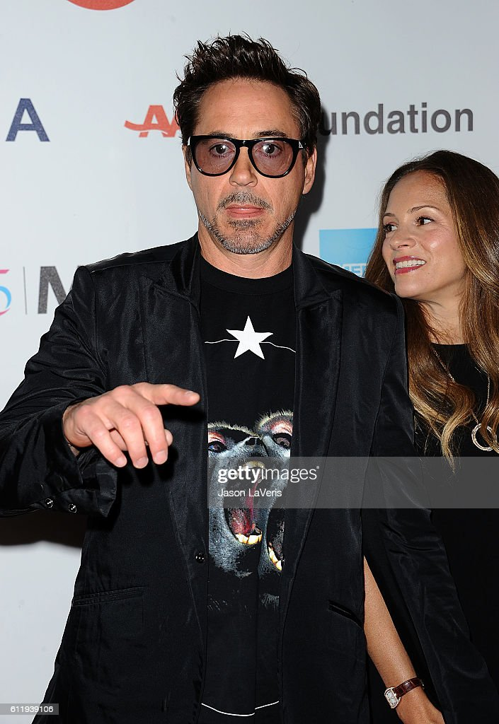 Actor Robert Downey Jr. and wife Susan Downey attend MPTF's 95th anniversary celebration 'Hollywood's Night Under The Stars' on October 1, 2016 in Los Angeles, California.