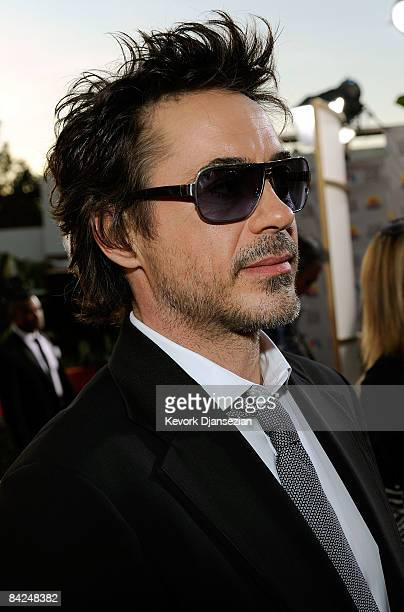 Actor Robert Downey Jr arrives at the 66th Annual Golden Globe Awards held at the Beverly Hilton Hotel on January 11 2009 in Beverly Hills California