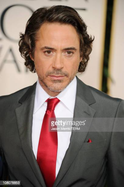 Actor Robert Downey Jr arrives at the 68th Annual Golden Globe Awards held at The Beverly Hilton hotel on January 16 2011 in Beverly Hills California