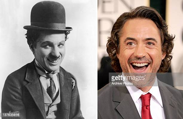 In this composite image a comparison has been made between Charles Chaplin and actor Robert Downey Jr Oscar hype continues this week with the...