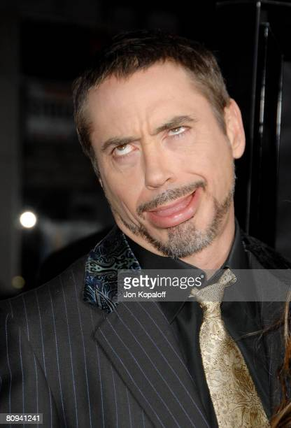 "Actor Robert Downey Jr. Arrives at the Los Angeles Premiere ""Iron Man"" at the Grauman's Chinese Theater on April 30, 2008 in Hollywood, California."
