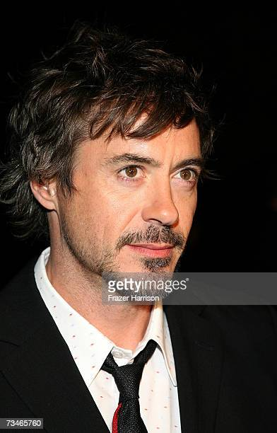Actor Robert Downey Jr arrives at the Paramount Pictures' Premiere Of 'Zodiac' held at Paramount Studios on March 12007 in Los Angeles California